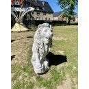 2 x Steinlöwen Gartenfigur Steinfigur Torwächter Türwächter Tierfiguren Löwe
