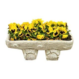 rechteckiger Blumenkasten Stein Trog Blumenkübel Pflanzkübel Pflanzkasten