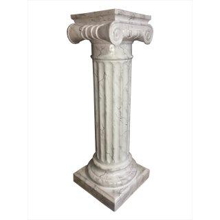 Griechische Blumensäule Dekosäule Marmor Säule Steinsäule Fossil Blumenständer