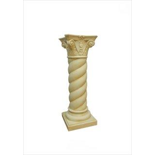 Spiralensäule Blumensäule Spiralsäule Blumenständer Antike Säule Beige H: 100cm