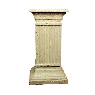 Antike Blumensäule Blumenständer Regal Säule Standsäule Podest Beige Höhe: 80cm