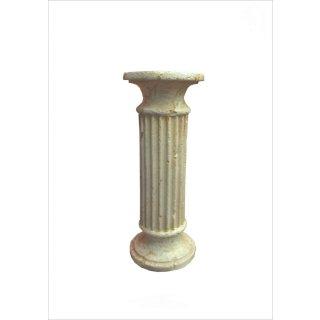 Griechische Blumensäule Blumenständer Antike runde Säule Standsäule Barock Beige