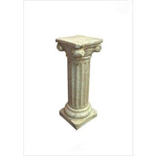 Griechische Säule Dekosäule Blumensäule Dekosäule Antike Säule Steinsäule H:63cm