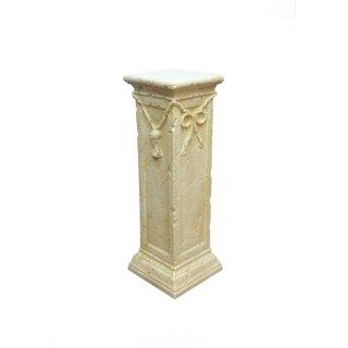 Griechische Säule Dekosäule Blumensäule Podest Antike Säule Steinsäule H: 75cm