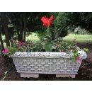 2 x Blumenkasten Pflanztrog Blumenkübel Pflanzkübel Pflanzschale Pflanzkasten