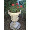 2 x Blumenkübel Pflanzkübel Blumentopf Amphore Pflanzschale Steinmöbel H:85cm