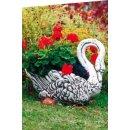 2x Pflanzschale Schwan Blumenkübel Pflanzkübel Blumentopf Tierfiguren Pflanzkorb