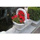 2 x Stein Pflanzschale Blumenkübel Pflanzkübel Blumentopf Pflanzkorb Blumenkorb