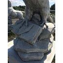 Adler+Steinsäule H:182cm Steinadler Raubvogel Greifvogel Steinfigur Gartenfigur