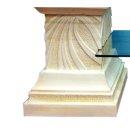 Glastisch Couchtisch Wohnzimmertisch Clubtisch Steinmöbel Fossilmöbel Griechisch