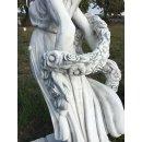 Griechische Gartenfigur Frauenskulptur Steinfigur Blumenfrau Teichfigur 320KG