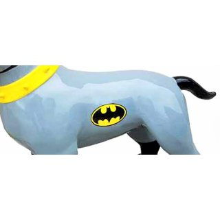 Lebensgroßer Bullterrier Batman Edition American Bully Kampfund Lack Art Design