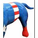 Lebensgroßer Bullterrier Captain America Edition...