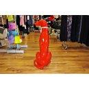 Lebensgroßer Windhund Hundefigur Jagdhund Rassehund Lack Design Modern Art Rot