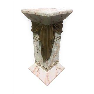Griechische Blumensäule Blumenständer Marmor Säule Versa Serie Beige H: 65cm
