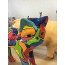 Lebensgroßer Katze Katzen Kater Tierfiguren Gartenfigur Lack Design Modern Art