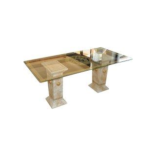 Esstisch Küchentisch Tafeltisch Esszimmertisch Antiker Barocktisch Marmortisch