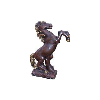 Pferdefigur Gartenfigur Springpferd stehendes Pferd Steinpferd Dekopferd H:101cm