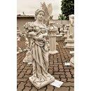 Blumenfrau Griechische Gartenfigur mit Blumen Steinfigur Frauenfigur Antike